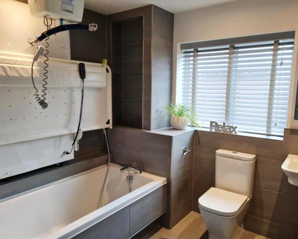 Disabled Bathroom hoisted bath